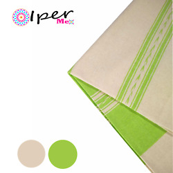 Exclusive Mexican Handmade Tablecloth Of Natural Cotton In Avocado Color With