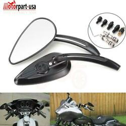 Skull Teardrop Rearview Size Mirrors For Harley Softail Dyna Electra Road Glide