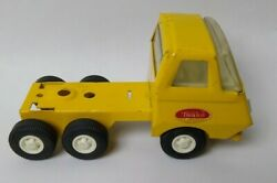 Vintage Tonka Cabover Semi Truck Yellow Metal Toy 60-70s