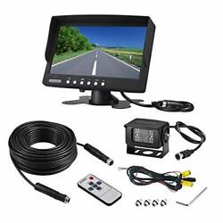 Vehicle Backup Camera Kit,rearview Camera Cab Cam With 7 Inch Monitor+ 4 Dl001