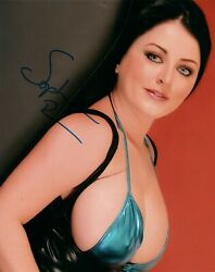 Sophie Dee Super Sexy Hot Signed 8x10 Photo Adult Model Coa Proof 258