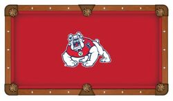 Fresno State Bulldogs Hbs Red With White Logo Billiard Pool Table Cloth