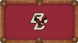 Boston College Eagles Hbs Red With Bc Logo Billiard Pool Table Cloth