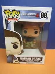 88 Funko Pop Uncharted 4 A Thiefs End Nathan Drake Vinyl Figure Vaulted 2537