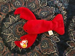 Rare Pinchers The Lobster Beanie Baby. Original 1993 With Pvc Pellets.