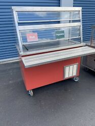 Refrigerated Salad Bar Frost Top Cold Slab Shrimp Sushi Display Counter Table