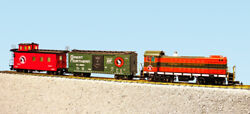 Usa Trains G Scale R72403 Great Northern S4 Diesel Freight Set Ready To Run Set
