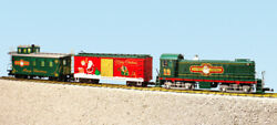 Usa Trains G Scale R72404 Christmas S4 Diesel Freight Set Ready To Run Set