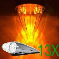 13x 39cm9cm10cm 17diodes Clear/amber Torpedo Led Mid Roof Cab Marker Lamp