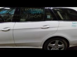 Driver Rear Side Door White Station Wagon Fits 14-16 Mercedes E350 704844