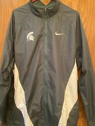 Michigan State Spartans Nike Mens Coat Jacket Xl Player Issued Nwot Windbreaker