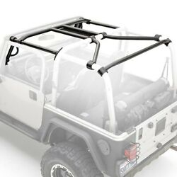 For Jeep Wrangler 97-06 Black Powder Coat Roll Cage And Tubular Door Kit
