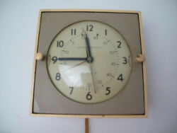 General Electric Chef Wall Clock 2h18 Kitchen Cream Mid Century Ge Vintage Works