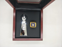 1970 Baltimore Colts Championship Ring Super Bowl Trophy With Wooden Display Box