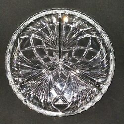 1 One Gorham Cherrywood Cut Lead Crystal 3 Part Relish Plate - Discontinued