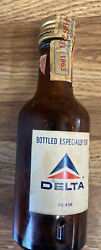 1963 Canadian Club Empty Whiskey Bottle 1/10 Pint. Made Especially For Delta