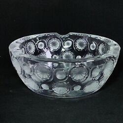 1 One Lalique Tokyo Lead Crystal Ashtray Signed Discontinued