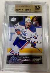 Connor Mcdavid Young Guns Rookie Bgs 9.5 With A 10