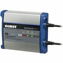 Guest On-board Battery Charger 10a / 12v - 1 Bank - 120v Input