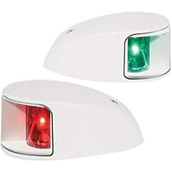 Hella Marine Naviled Deck Mount Port And Starboard Pair - 2nm - Clear Lens/white