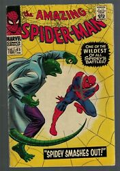 Marvel Comics Amazing Spiderman 45 Fn- 5.5 Lizard Spidey Smashes Out Avengers