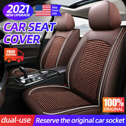 Luxury Car Seat Covers Full Set Top Pu Leather Frontandrear 5-seats Suv Truck Auto