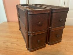 1920 Antique Singer Wooden Sewing Machine Drawers W Cases