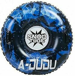 Inflatable Snow Tube For Kids And Adults, Durable, Heavy Duty Snow Sled With
