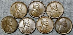 1910 1924 1928 1931 1932-d 1933 1934-d Lincoln Cent Wheat Penny Nice Lot N162