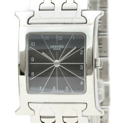 Polished Hermes H Watch Stainless Steel Quartz Unisex Watch Hh1.510 Bf529325