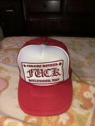 Chrome Hearts Trucker Cap Hollywood Limited Red And White Unused 703/me