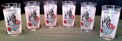 Rare Set Of 6 1990 Kentucky Derby 116th Churchill Downs Frosted Mint Julep Glass