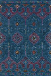 Loloiandnbsp Contemporary Blue And Plum 7and039-9 X 9and039-9 Area Rugs Gemogq-02bbpl7999