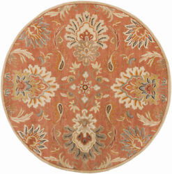 Surya Cae-1112 Caesar Classic Traditional Burnt Orange 8and039 X 10and039 Oval Area Rug