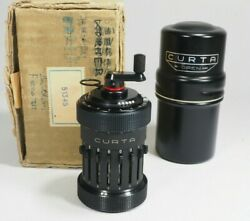 Curta Calculator Type I W/can Box Manual1962 Pristine+barely Used+top Working