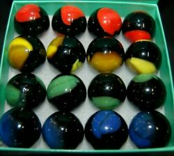 16 Marble King Shooter Patch Marbles 7/8 + Or -
