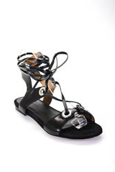 Isabel Marant Womens Lace Up Leather Sandals Black Size 35 5