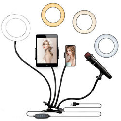 6inch 4 In 1 Selfie Ring Light With Tripod Stand For Tiktok/live Stream Videos
