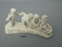 Dept 56 Snowbabies I'm Right Behind You Set Of 5 Pewter Miniature 76627 Rare