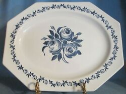Liberty Blue And White   Jandg Meakin Ironstone Octagon Serving Platter