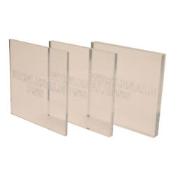 Clear Plastic Perspex Acrylic Sheets / A4 Sheet Size / Various Thicknesses