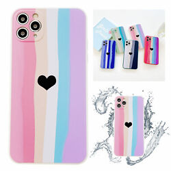 Love Heart Silicone Cute Soft Phone Case For iPhone 11 12 Pro Max XS XR 7 8 Plus $6.41