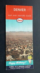 1960's Denver Street Map Enco Gas Put A Tiger In Your Hotchkiss Metro