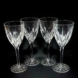 4 Four Mikasa Apollo Cut Lead Crystal Water Goblets - Discontinued