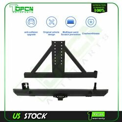 For 1987-2006 Jeep Wrangler Tj Yj Rear Bumper With Tire Carrier And Hitch Guard