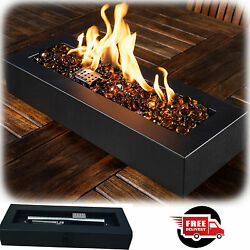 Outdoor Tabletop Gas Fire Pit Patio Table Top Fireplace Propane Bowl Heater