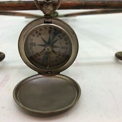 Vintage Wittnauer Wwii Era Pocket Watch Style Us Compass Ships Free