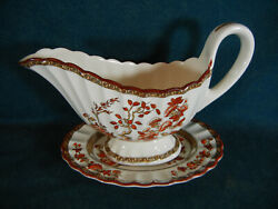 Copeland Spode India Tree Gravy Boat With Separate Under Plate Relish
