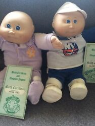 2 Baby Boys Vintage Cabbage Patch Dolls From 1983sold As Is