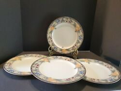 Mikasa 11 Dinner Plates Garden Harvest Cac29 Set Of 4 New With Tags